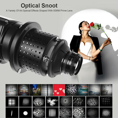 Balcar Mount Optical Conical Snoot Focalize Condenser With Lens For Flash Light