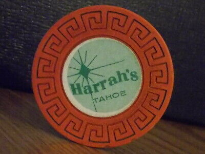 HARRAH'S TAHOE CASINO ROULETTE hotel casino gaming poker chip ~ Lake Tahoe, NV