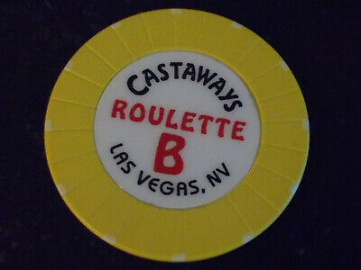 CASTAWAYS CASINO ROULETTE hotel casino gaming poker chip ~ Las Vegas, NV