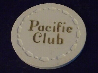 PACIFIC CLUB CASINO 100 hotel casino gaming poker chip