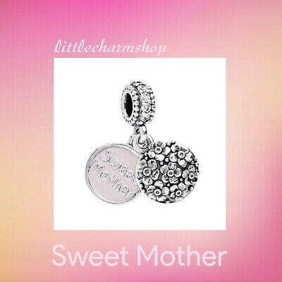 New Authentic Genuine PANDORA Sweet Mother Hanging Charm - 791285CZ RETIRED