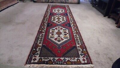 Fine Quality Genuine Antique Large Wool Hand knotted Persiann Rug Runner