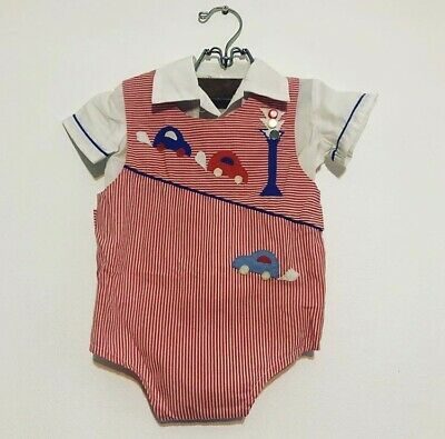 Vintage Retro Cars Romper / Playsuit  & Shirt Set Size 0