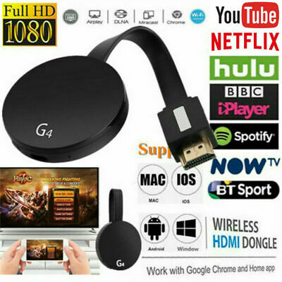For Chromecast 4th Gen 1080P HDMI Digital Streamer TV Video Media Android iOS