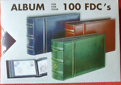LIGHTHOUSE First Day Cover ALBUM RED - 50 Double Sided Pages - holds 100 Covers
