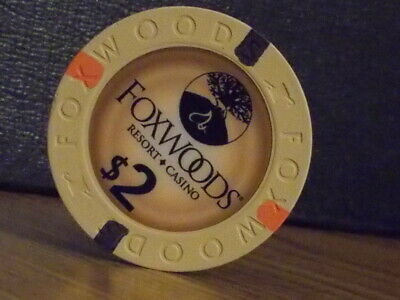 FOXWOODS RESORT CASINO $2  hotel casino poker gaming chip ~ Connecticut