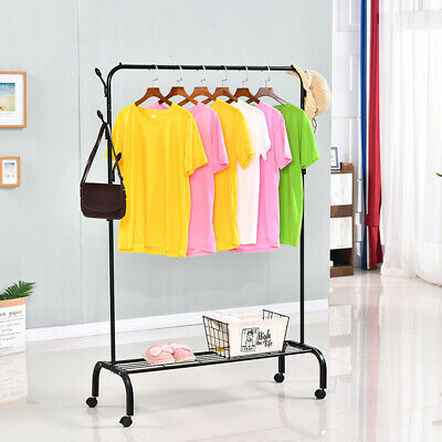 NEW Garment Clothes Rail Super Heavy Duty All Metal Display Rack Coat Rail Stand