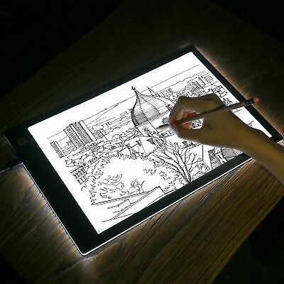 A4 Ultra-thin Portable LED Light Box Tracer USB Dimmable Artcraft Tracing Pad