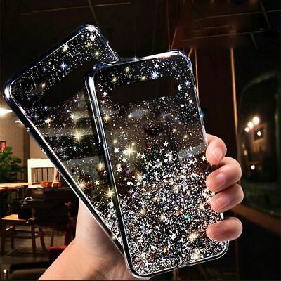 Samsung Galaxy S10 S9 S8 Plus Bling Glitter Clear Case Ultra-thin Soft Gel Cover
