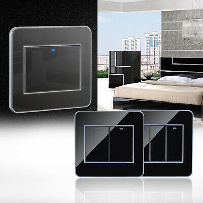 1 2 3 Gang 1 2 Way Home Led Panel Kitchen Bathroom Wall Switch Acrylic Modern