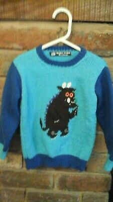 Gruffalo jumper hand knitted age 3-4years