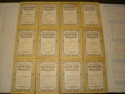 National Geographic Magazine 1923 - Lot of 12 Issues