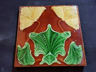 "Reclaimed Antique Single 6"" x 6"" Ceramic Arts & Crafts Tile Tiling (ER355)"