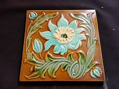 "Reclaimed Antique Single 6"" x 6"" Victorian Tile Tiling Decor (ER343)"