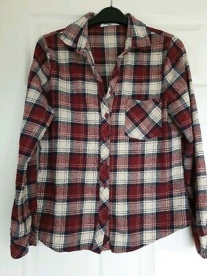 Excellent Condition New Look Generation Check Long Sleeved Shirt Age 15