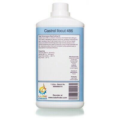 1L Castrol Ilocut 486 Neat Cutting Oil