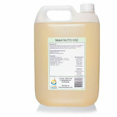 5L Mobil Esso Nuto H32 H44 ISO VG 32 Hydraulic Fluid Oil