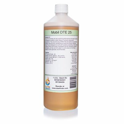 1L Mobil DTE 25 ISO VG 46 Hydraulic Oil
