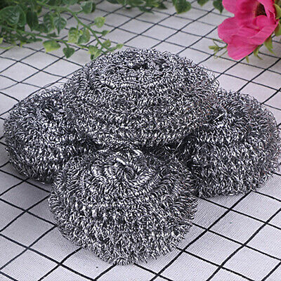 Cleaning Durable Lightweight Portable Useful Steel Wool Dish Brush Kitchen Tool
