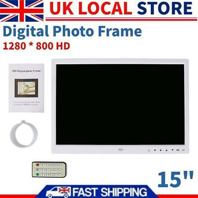 "15"" 1280 * 800 HD Touch Screen Digital Music Alarm Photo Frame + Remote Control"