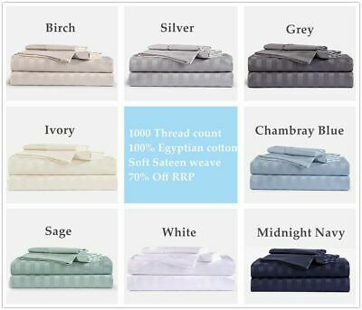SINGLE/DOUBLE/QUEEN&KING (Flat,Fitted,Pillowcases)  COTTON BED SHEET SET