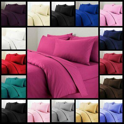 1000TC Microfibre Soft Duvet Doona Quilt Cover Set Double/Queen/King/Size Bed AU