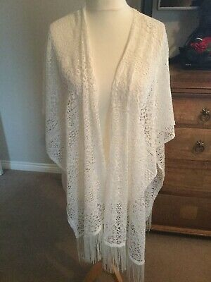 Lace Shrug, Wrap In White