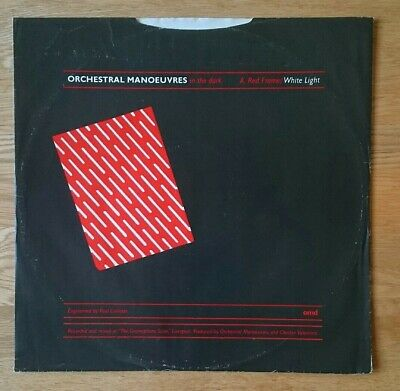 OMD - Orchestral Manoeuvres In The Dark - RED FRAME WHITE LIGHT Rare UK 12""