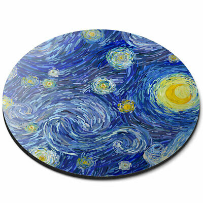 Round Mouse Mat - Moon Starry Sky Night Stars Art Office Gift #14014