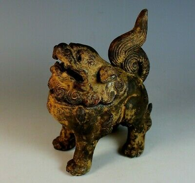 Antique Chinese Cast Iron Censor Foo Lion Dog