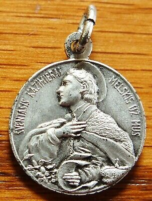Antique Rare Religious Medal St Casimir Special Patron Of All Youth