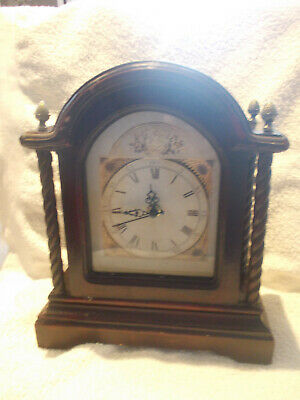 Used hand made quartz bracket clock in good working order.