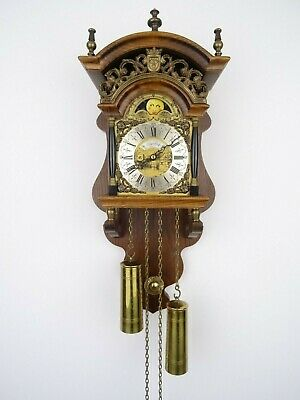 Dutch Sallander Vintage Wall Clock Moonphase 8 day (Warmink WUBA era)