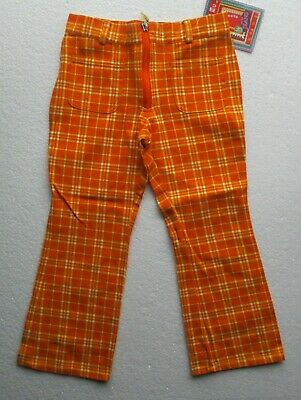New  Girl's Trousers by designer Marinus in orange  pockets 100% cotton 3-4 yr