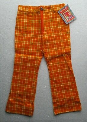 New  Girl's Trousers by designer Marinus in orange  pockets 100% cotton 4-5 yr