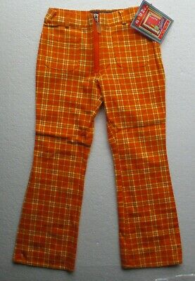 New  Girl's Trousers by designer Marinus in orange  pockets 100% cotton 5-6 yr