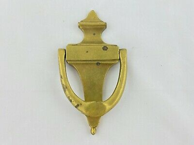 "Vintage Reclaimed Classic Solid Brass Door Knocker 6 3/4"" x 3 1/2"" Traditional"