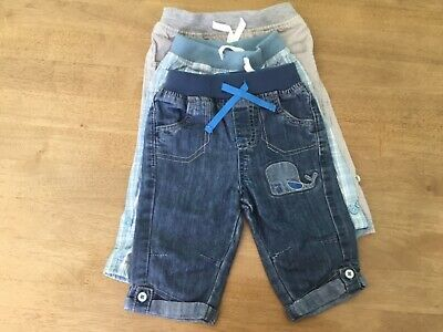 baby boys trousers bundel of 3 pairs all excellent condition age 6 to 9 mths