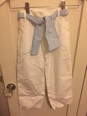 Gorgeous Armani Junior Lightweight White Trousers Size 22 Approx 5-6 Years
