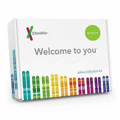 NEW! 23andMe DNA Health & Ancestry Saliva Collection Kit pre-paid return   8/21