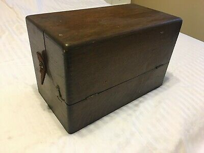 Antique Violet Ray Oscillator Quack Medical Device with Glass Tube,  Wood Box
