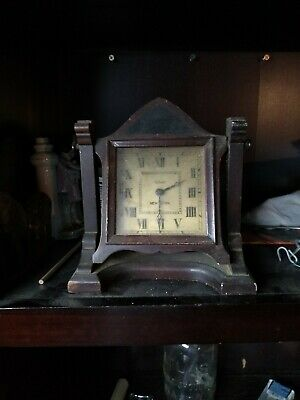Antique New Haven  Dresser Clock Mechanical 12-Day Untested