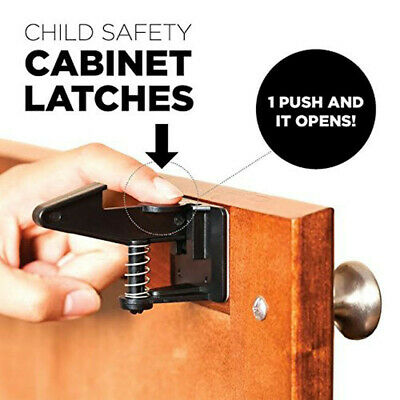Child Safety Latches Easy Adhesive Baby Proofing Cabinets Lock Drawers Latch