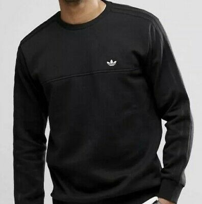 ADIDAS ORIGINAL MAN,S Trefoil 3 Stripes Sweatshirt Black
