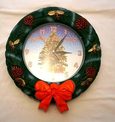 Christmas Wreath Clock Lights up and Musical