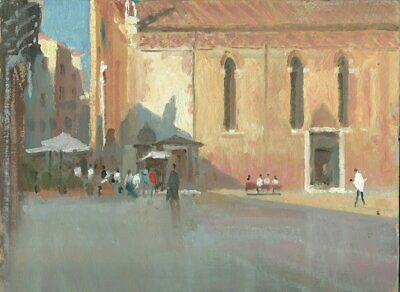 NEW ORIGINAL MICHAEL RICHARDSON San Stefano Venice Italy italian OIL PAINTING