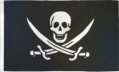 3X5 SKULL AND CROSS SWORDS FLAG PIRATE CALICO NEW F218