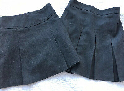 Two Grey School Skirts Age 3-4