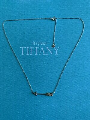 Authentic Tiffany & Co S. Silver arrow pendant necklace-245$