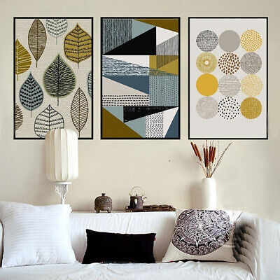 Wall Hanging Nordic Canvas Frameless Abstract Geometric Art Decorative Painting
